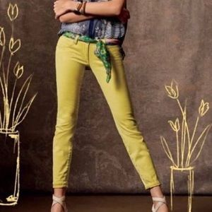 cabi yellow citron skinny jeans 12 EUC